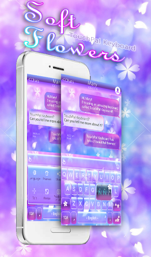 Soft Flower Keyboard Theme