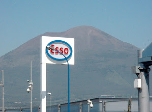 Photo: Day two, April 28th - Drive from Naples to Furore via Amalfi. That's Mount Vesuvius behind the Esso station.