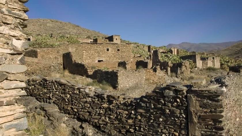 Aspecto actual de Rambla Encira, en la Alpujarra almeriense.