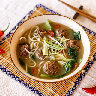 Spicy Meatball Udon Soup Recipe