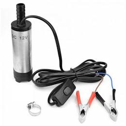 Pompa electrica auto submersibila 12V, 20 l/min, 52 mm