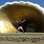 giant ocean shell on Cijin Island in Kaohsiung in Kaohsiung, Kao-hsiung city, Taiwan
