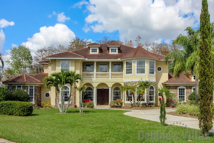 Orlando villa close to Disney, gated community, private pool, spa, conservation view, home cinema