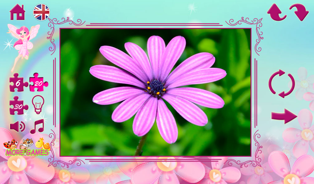 Puzzles for girls: flowers- screenshot
