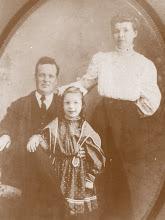 Photo: Thomas  P. Potter  daughter Lutie Ethel & Laura Mae Thomas Potter