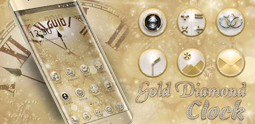 Gold Diamond Deluxe Clock 2018 for PC