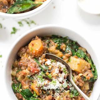 One-Pot Root Vegetable + Lentil Quinoa Stew Recipe