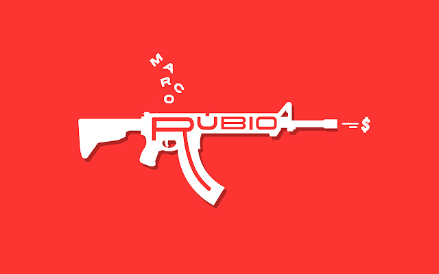 Replaces text 'AR-15' with 'Marco Rubio'