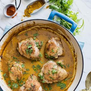 Curry Coconut Milk Roast Chicken Thighs.