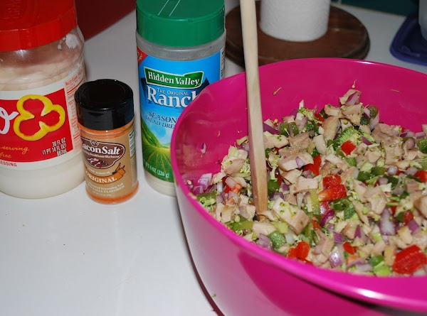 Mix all ingredients except cream cheese or tortilla in medium size bowl.