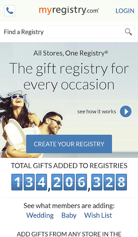 MyRegistry- screenshot