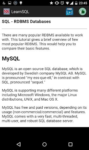 Learn SQL Offline