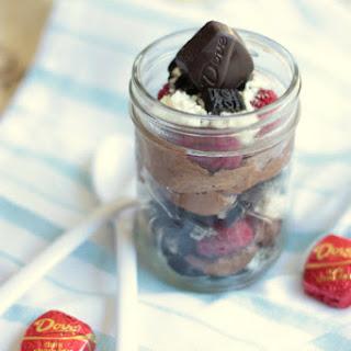 Raspberry & Chocolate Cheesecake Trifles.