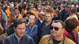 El alcalde de El Ejido durante la manifestación.