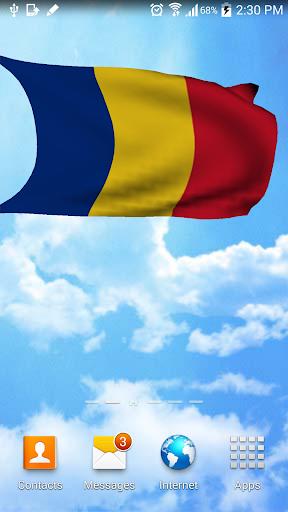 3D Romania Flag Live Wallpaper