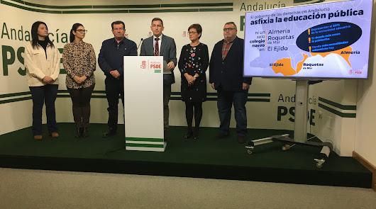 El PSOE reclama doce centros educativos en Roquetas, El Ejido y la capital