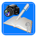 P Notepad,  notes + photo icon
