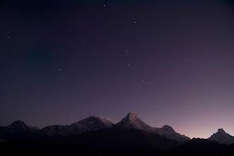Photo: Annapurna region at first light