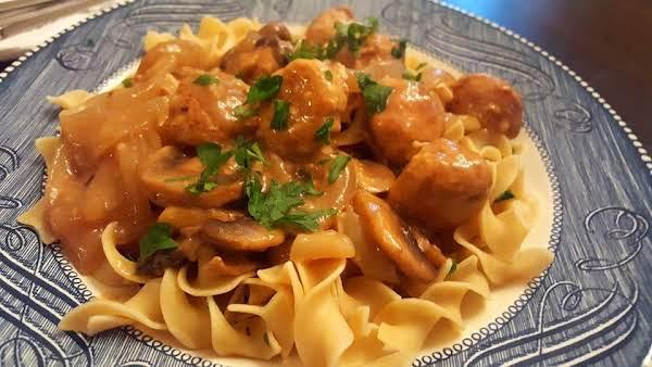 Turkey Meatballs In Mushroom Sauce
