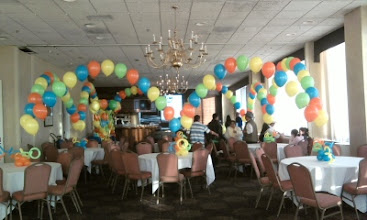 Photo: Room of candy-table arches