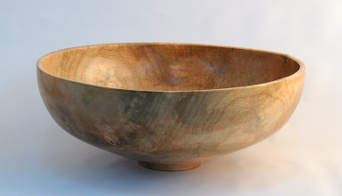 "Photo: Gary Nickerson - Bowl - 12"" x 5"" - Spalted Poplar  [10.09]"
