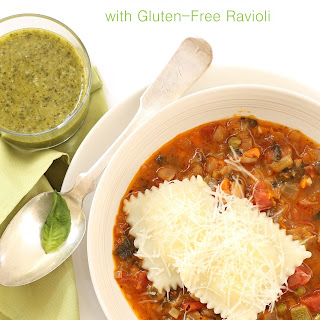 Minestrone with Gluten Free Ravioli