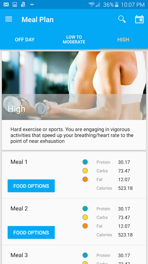 Nutritionist+- screenshot