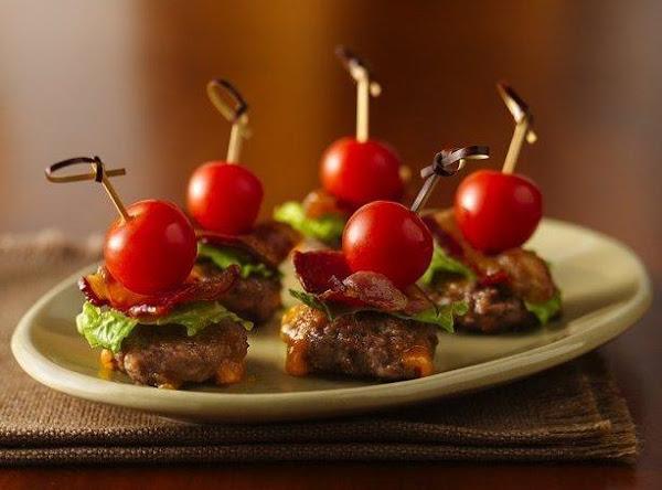 Cheesy Bacon Burger Bites Recipe