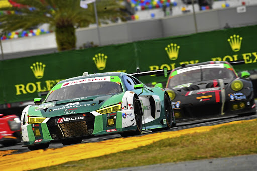 2018 South African Motor Sportsman of the Year Kelvin van der Linde competing in this year's 24 Hours of Daytona. Picture: AUDI