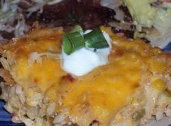 Chili Rice Casserole Recipe