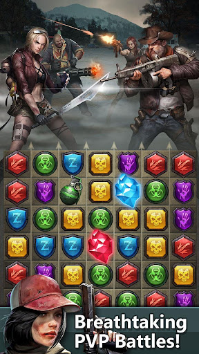 Zombies & Puzzles: RPG Match 3 apkdebit screenshots 2