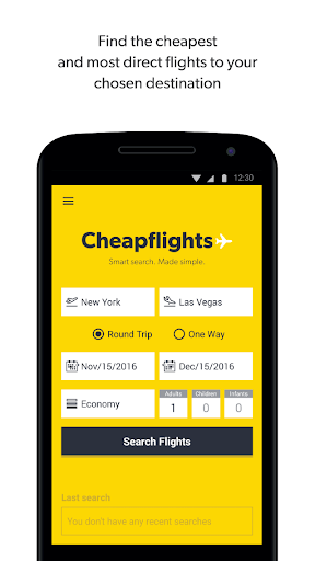Cheapflights – Flight Search Screenshot