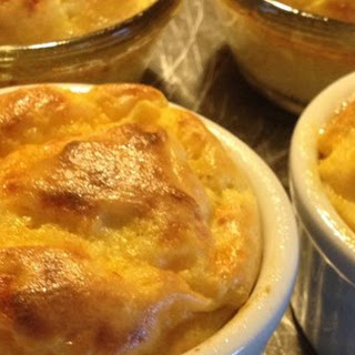 Apple and Cheddar Cheese Souffles
