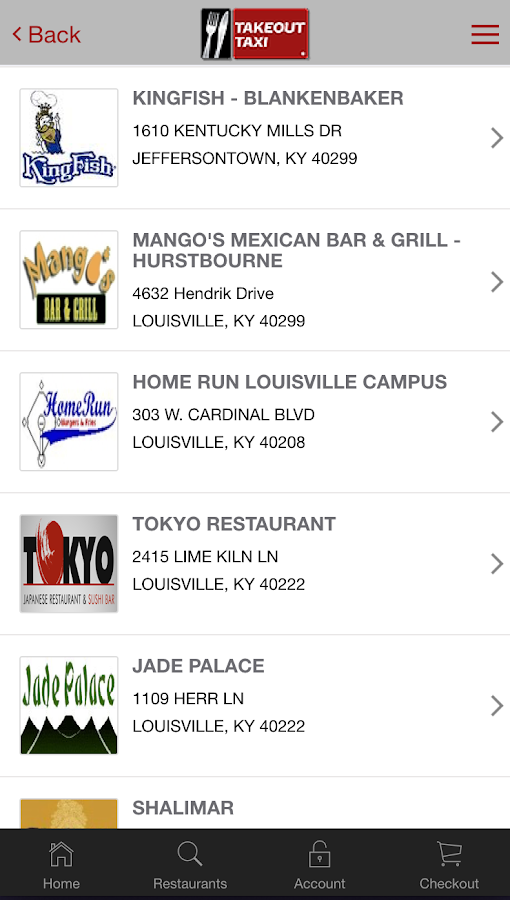 Takeout Taxi KY- screenshot