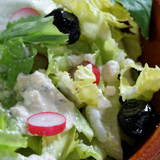 Creamy Feta-Red Wine Vinegar Salad Dressing.