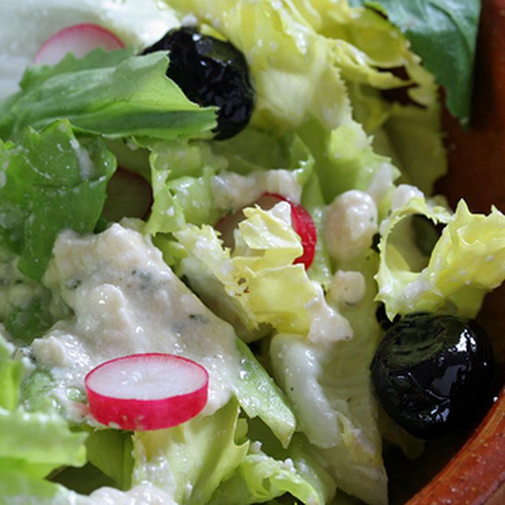 Creamy Feta-Red Wine Vinegar Salad Dressing Recipe