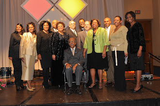 Photo: Members of the 2011 MLK Celebration Committee with keynote speaker.