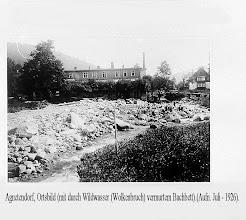 Photo: Agnetendorf, Hochwasserschaden