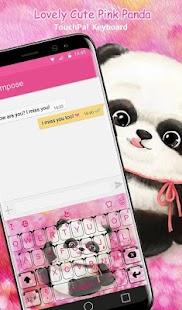 Lovely Cuteness Pink Panda Keyboard Theme - náhled
