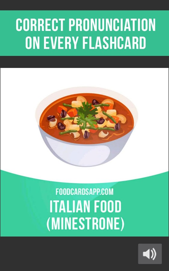 Food Cards: Food & Beverage Flashcards in English- screenshot