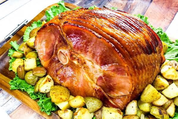 Delish Ham Glaze On A Baked Ham.