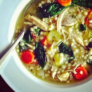 Turkey Soup with Couscous and Spinach