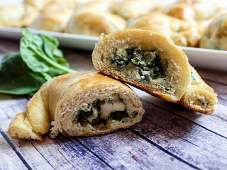Spinach Feta  Crescent  Snacks Recipe