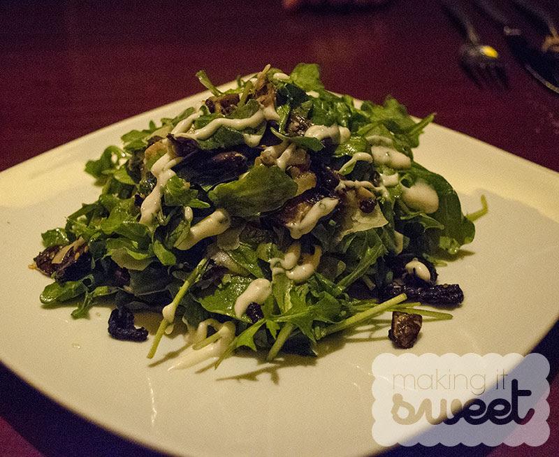 Wild Mushroom and Arugula Salad