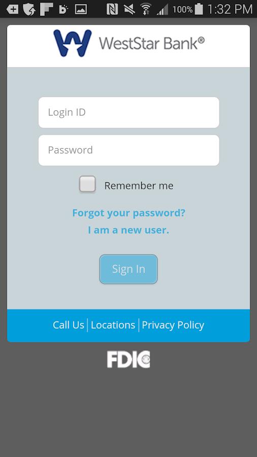WestStar Bank Mobile Banking - screenshot
