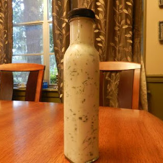 Homemade Buttermilk and Dill Salad Dressing.