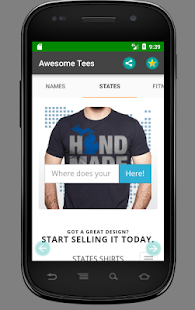 TEERACER Tshirt -  Awesome Tees- screenshot thumbnail