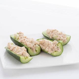 Tuna Salad Cucumber Boats.