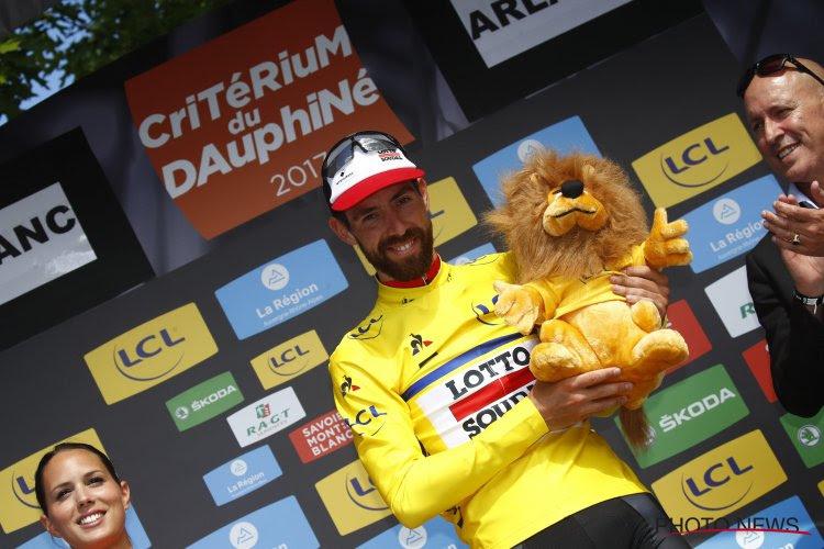 """Na één rit in de gele trui verschilt Thomas De Gendt dan toch van mening: """"Hopelijk is de volgende stap de Tour"""""""