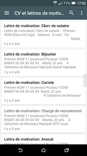 Download Cv Et Lettres De Motivation Apk Full Apksfull Com